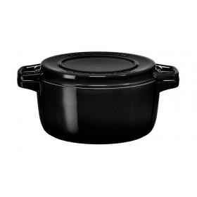 Liatinový hrniec čierny 3,8L, 24cm, čierny