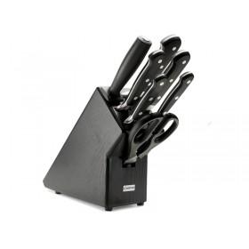 Classic blok s nožmi 7-dielny tmavé-čierne drevo, 9837-200