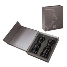 Set čiernych drevených mlyncekov Paris 18 cm
