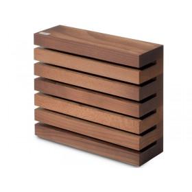 Nožový blok hnedý magnetický 7249