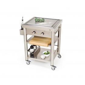 Teppanyaki 2 zónový kuchynský vozík 697050