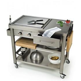 Teppanyaki 2 zónový kuchynský vozík 697110