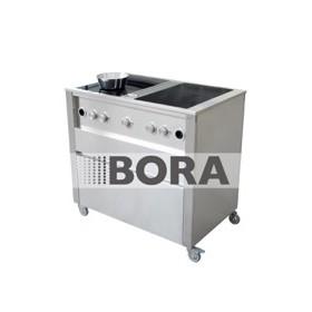 Kuchynský modul - vozík profi  - 2x Varná doska - Odsávač 668111