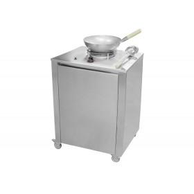 Kuchynský modul - plynový wok nerezový