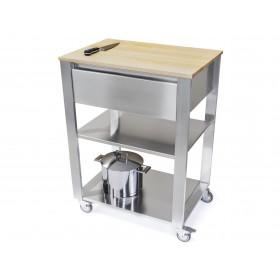 Kuchynský modul - vozík z hrabového dreva 662701