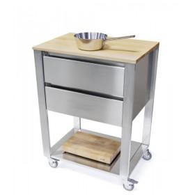 Kuchynský modul - vozík z hrabového dreva 662702