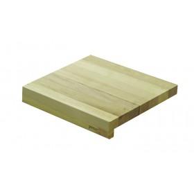 Krájacia doska z habanového dreva s jednou zarážkou