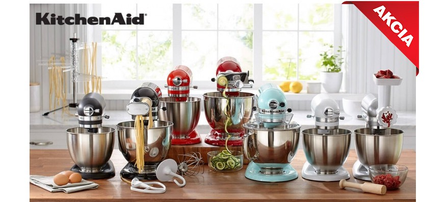 Kitchen Aid kuchynské spotrebiče a doplnky